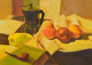 008. Kávéfőzős csendélet / Still life with a coffe maker
