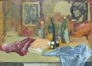 18.	Asztali csendélet a műteremben / Still-life in the table (The studio)