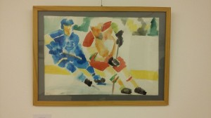 Cselez (Hokisok) / My painting: Dribble (Hockey players)