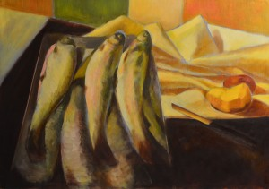 024. Halas csendélet / Still-life with fishes